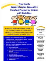 Tyler County Special Education Cooperative Preschool Program for Children with Disabilities