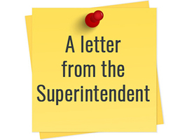 Letter From Superintendent Meysembourg