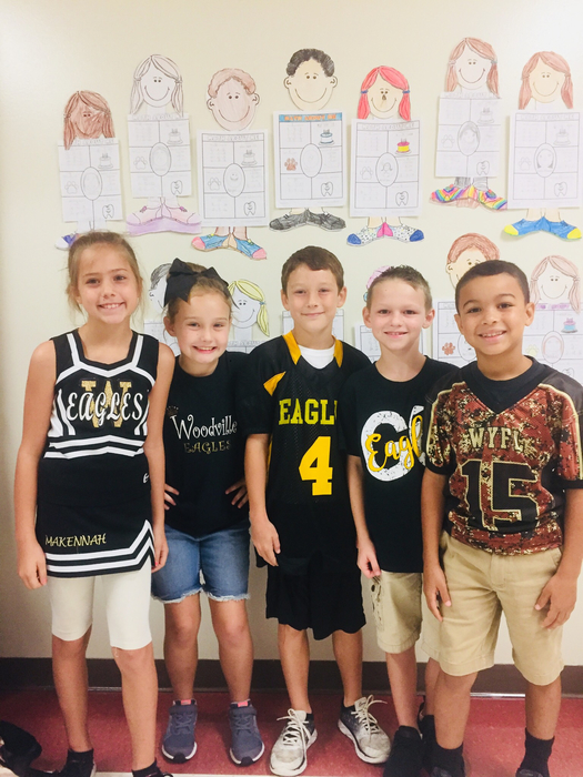 3rd graders showing their Eagle spirit!
