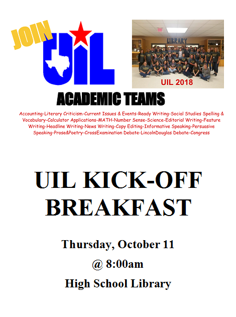 UIL Kick-Off Breakfast