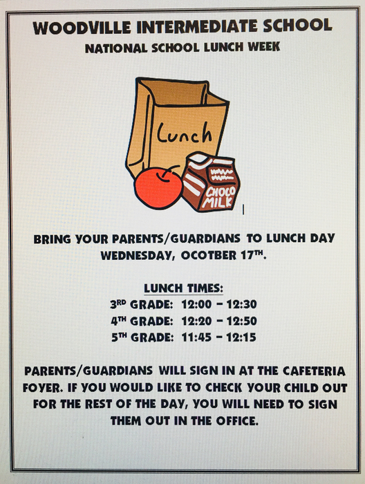 Parents lunch day
