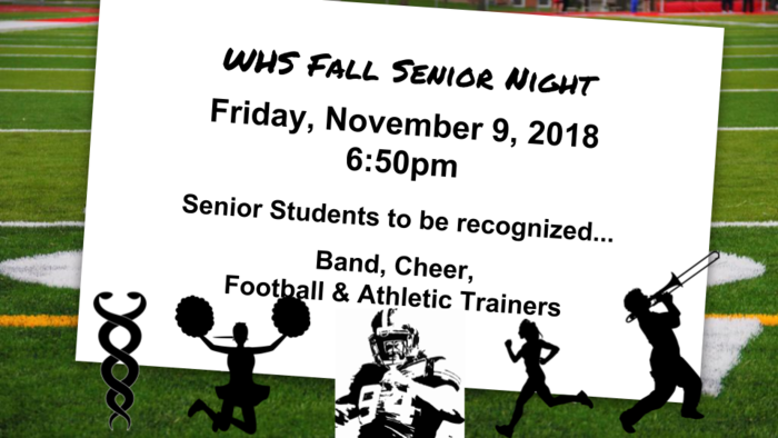 2018 Fall Senior Night
