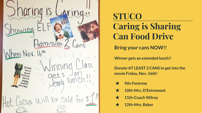 STUCO Can Food Drive