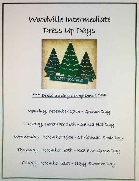 Wis dress up days
