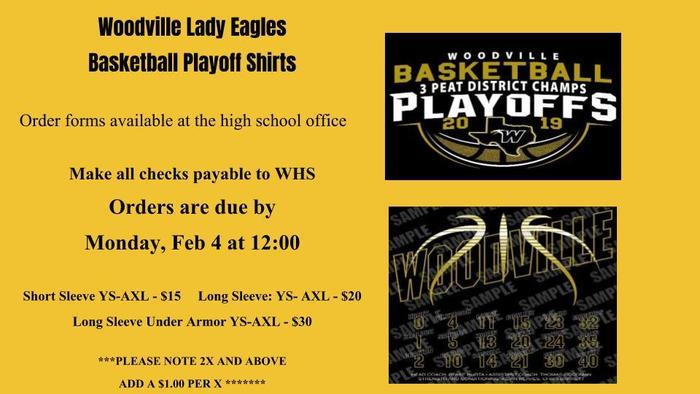 Lady Eagle Playoff Shirts
