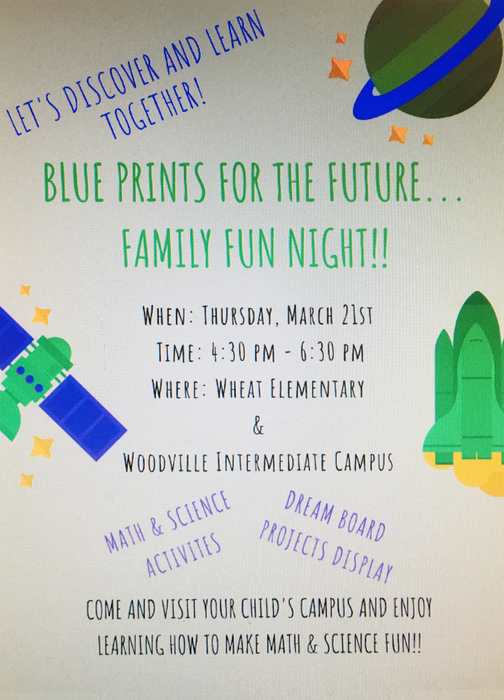 Blueprints family night