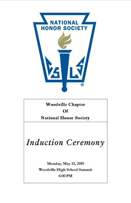 NHS Induction Monday, May 13, 2019