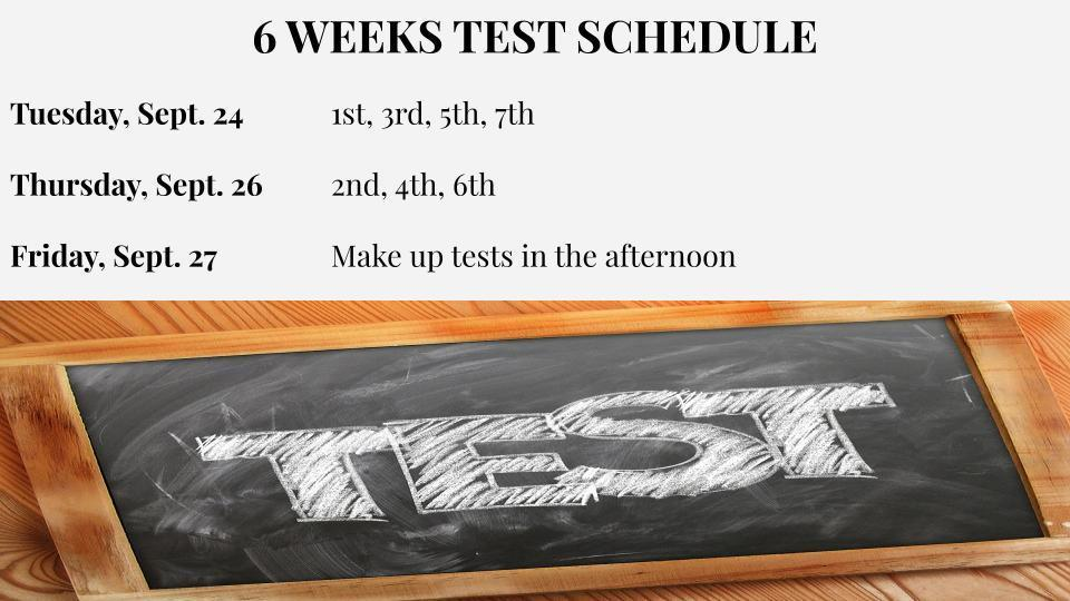 6 Weeks Test Schedule