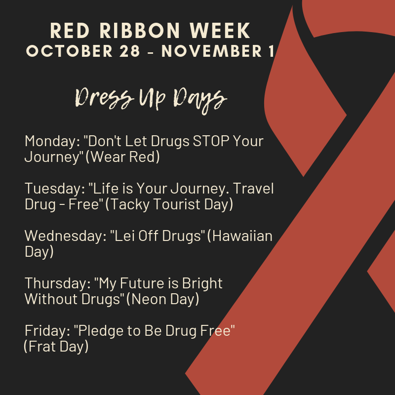 Red Ribbon Dress Up Days