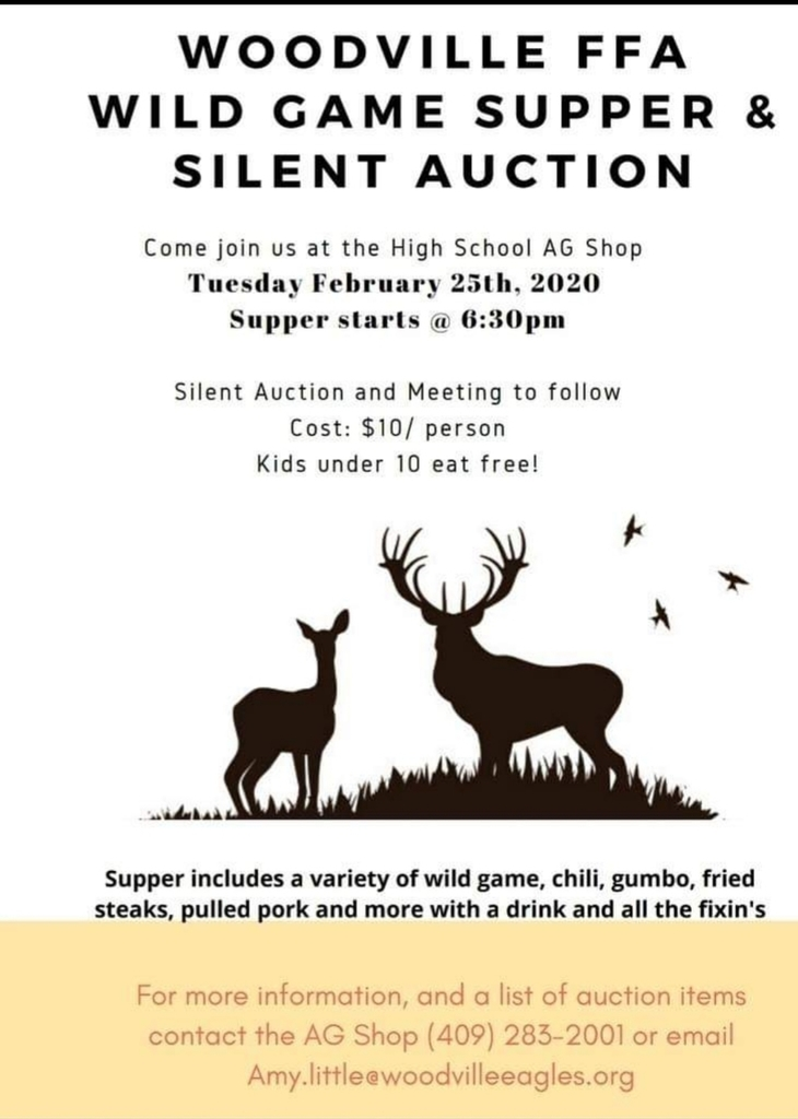 FFA Wild Game Supper