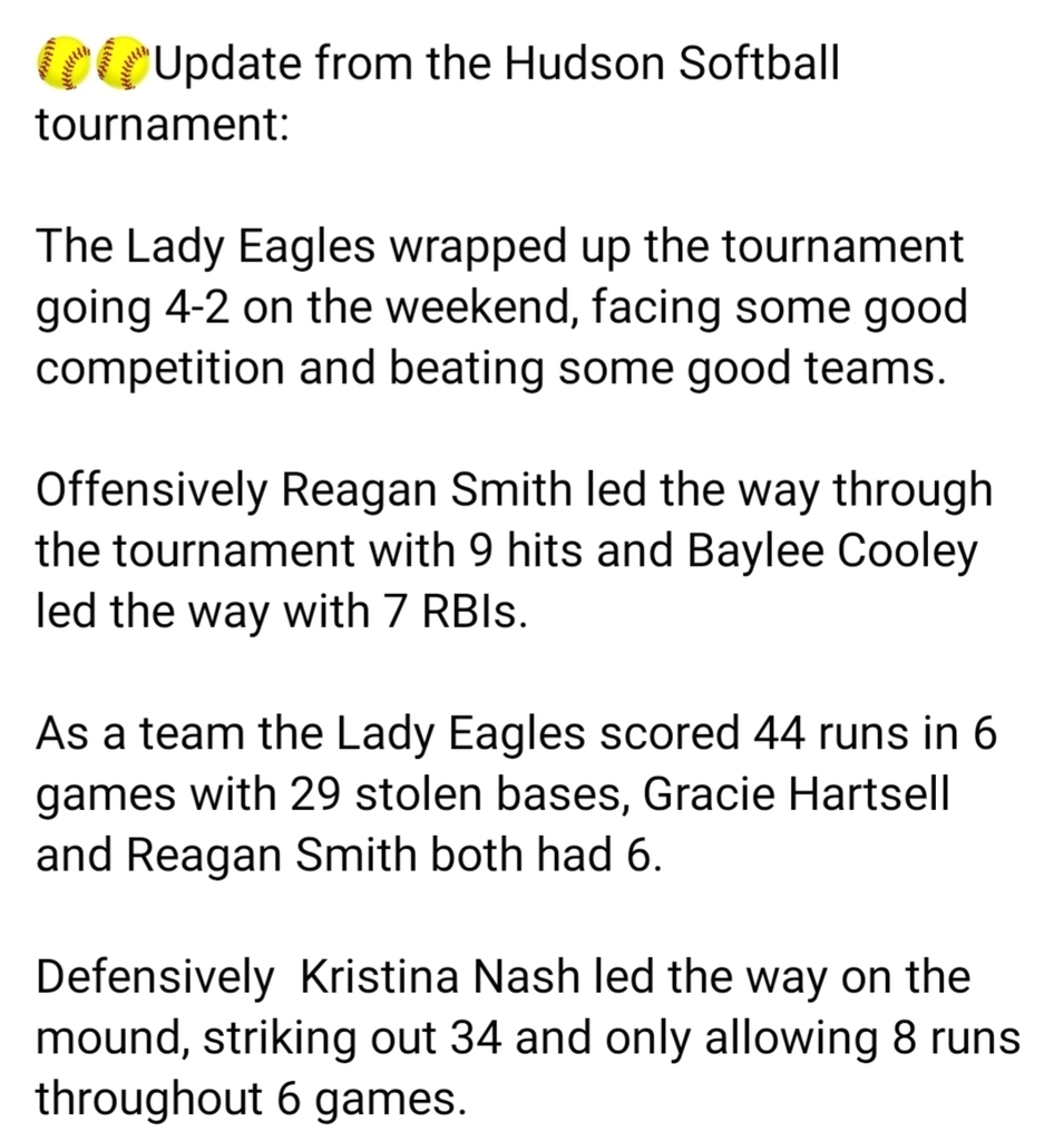 Lady Eagle Softball