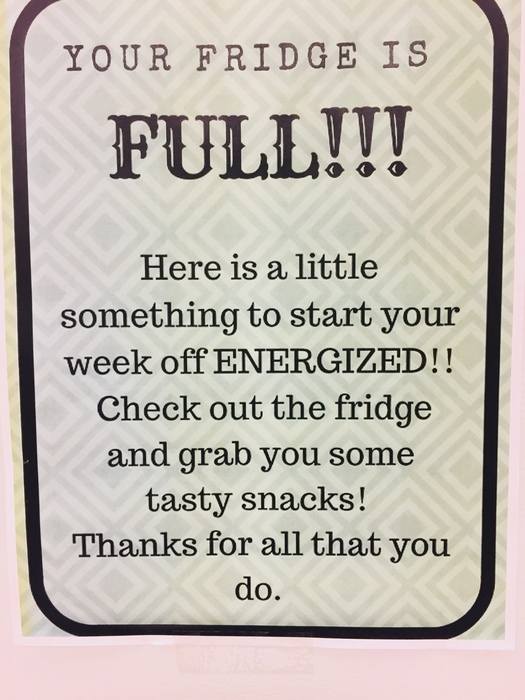 """Fill the fridge"""