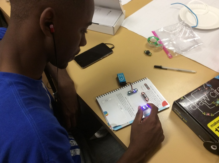 Engineering Students using Conductive Ink Pens